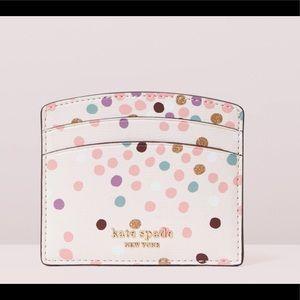 Kate Spade Sylvia Disco Dots Cardholder